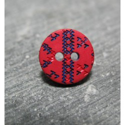 Bouton apache rouge bleu 12mm