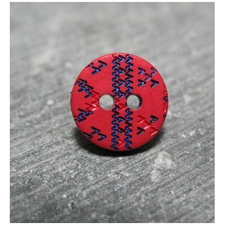 Bouton apache rouge bleu 12 mm b57