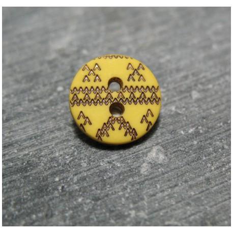 Bouton apache jaune noir 15 mm b57