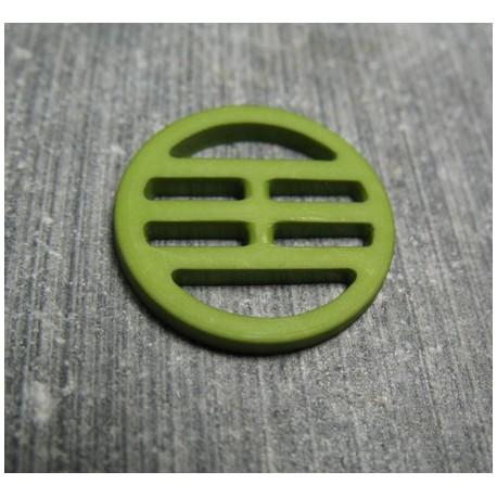 Bouton plaque verte 18 mm b72