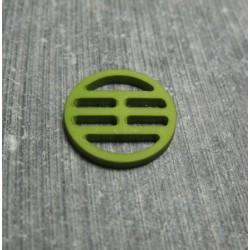 Bouton plaque verte 15 mm b72