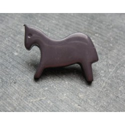 Bouton cheval gris 25mm