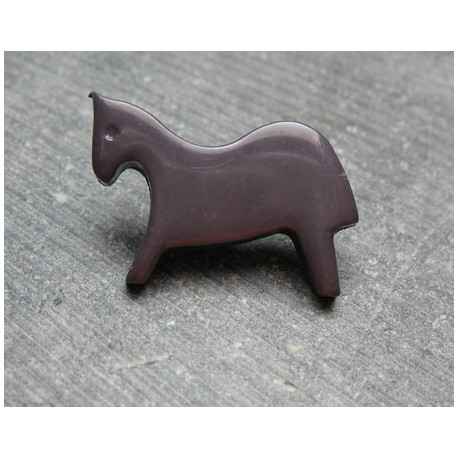Bouton cheval gris 25 mm b72