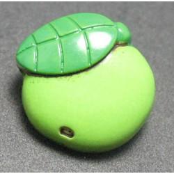 Bouton pomme granny vert 15mm