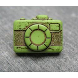 Bouton appareil photo vert noir 16 mm b20