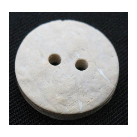 Bouton coco blanchie 18 mm b36
