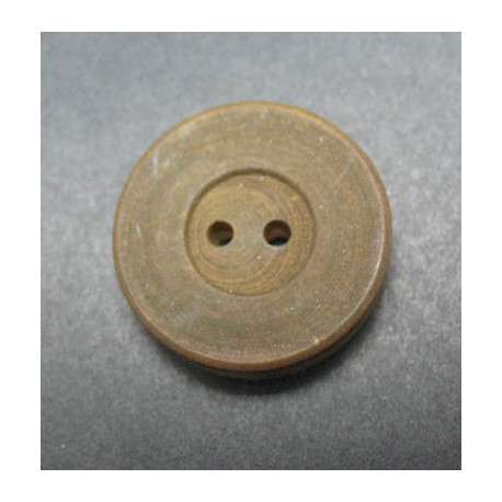 Bouton buis marron 22 mm b48