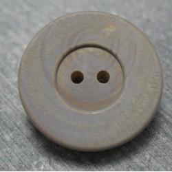 Bouton buis gris bleu 27 mm  b48