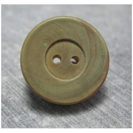 Bouton buis vert 22 mm  b48