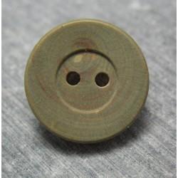 Bouton buis vert 18 mm  b48