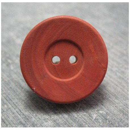 Bouton buis rouge 22 mm  b48
