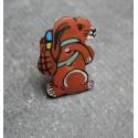 Bouton coco marmotte marron 23 mm b43