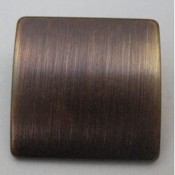 Bouton bouclier bronze brosse 23 mm b7