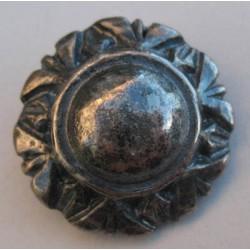 Bouton chapeau vieil argent 23 mm b12